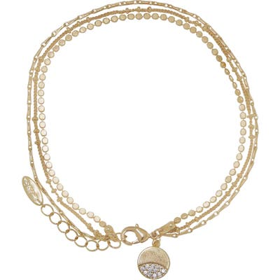 Ettika Pave Disc Layered Chain Anklet