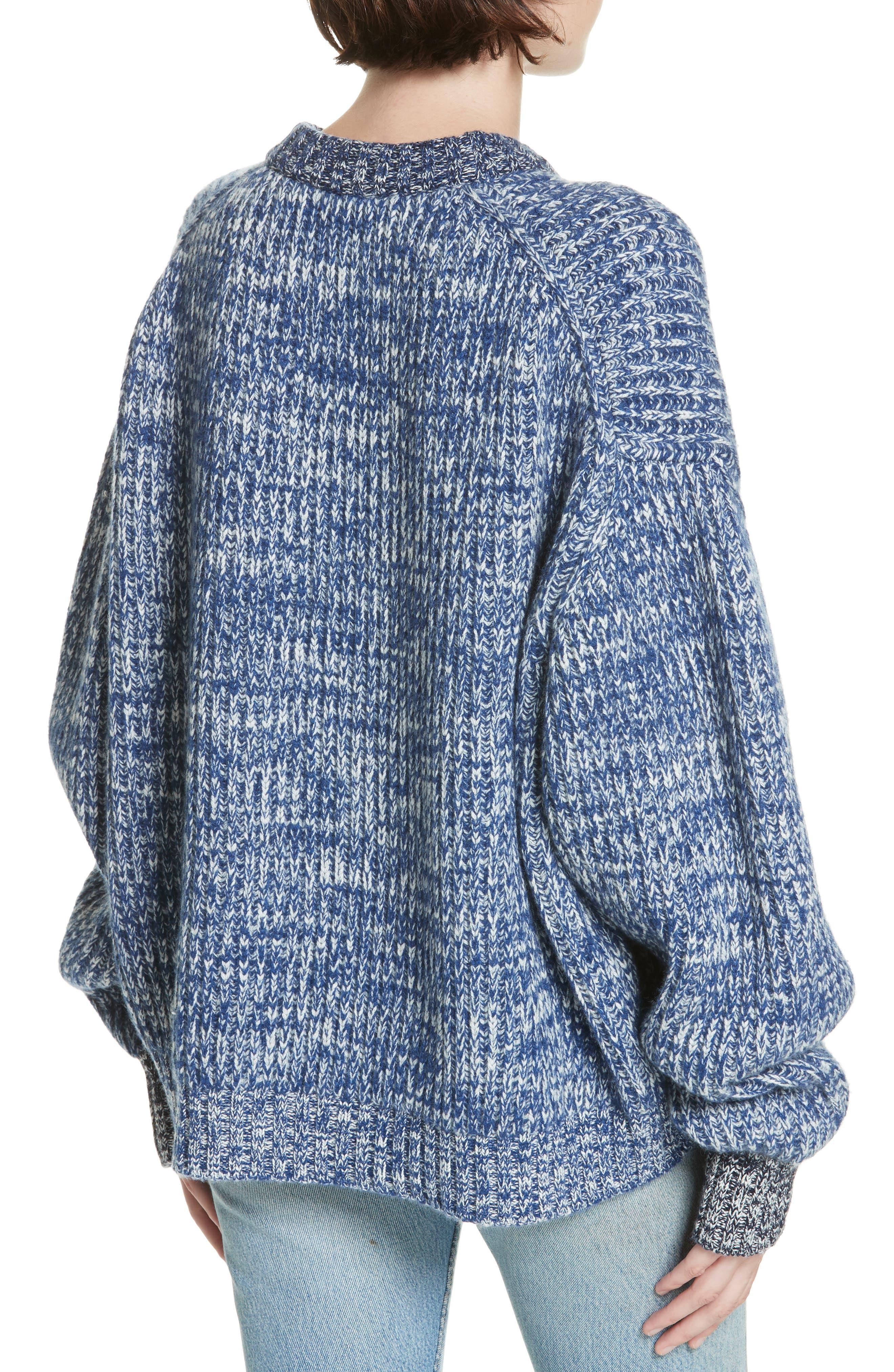 ,                             Mavie Chunky Wool & Cashmere Sweater,                             Alternate thumbnail 2, color,                             BLUE MARL