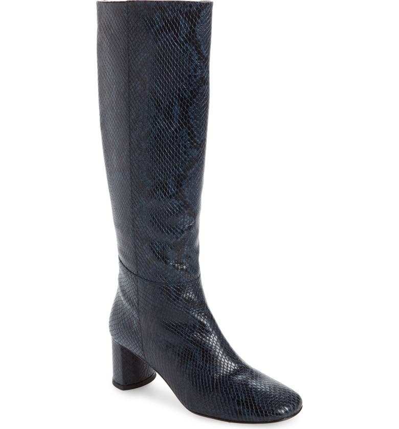LOQ Donna Knee High Boot, Main, color, HYDRO SNAKE LEATHER