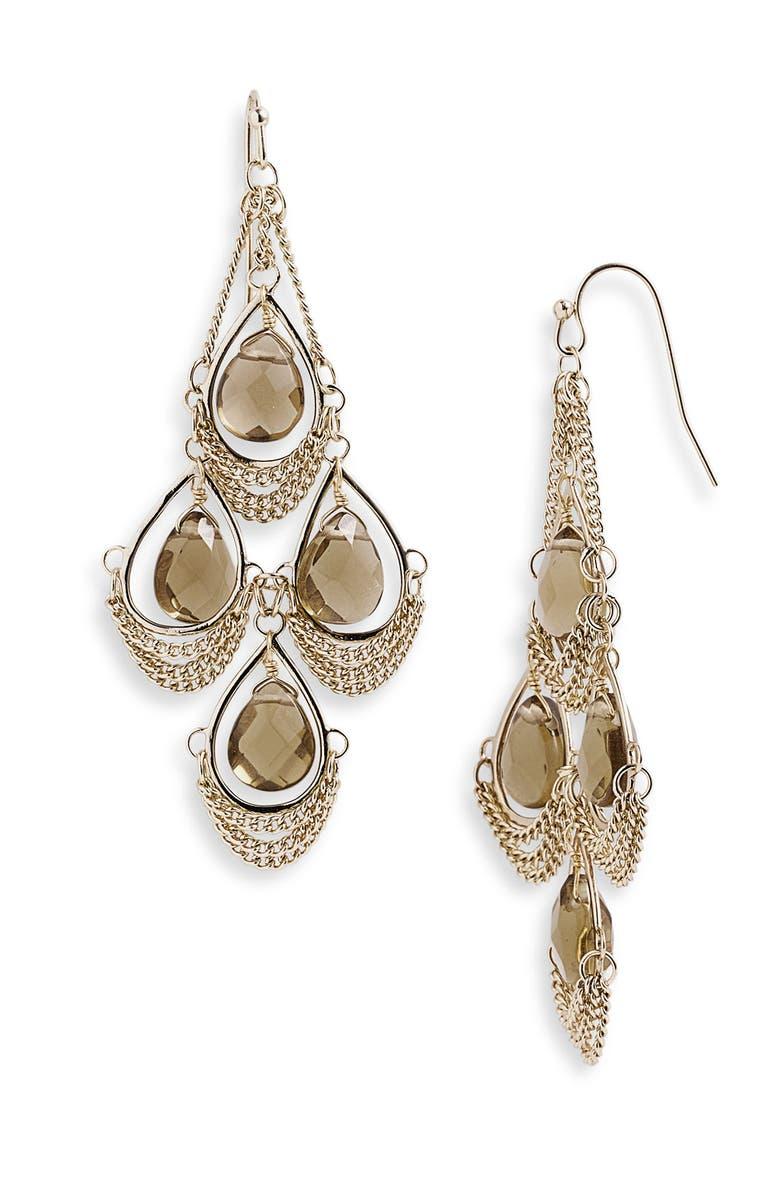 KENDRA SCOTT 'Trista' Stone Chandelier Statement Earrings, Main, color, 200