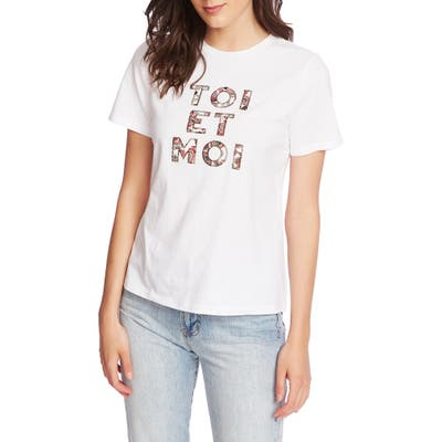 Court & Rowe Embroidered Tee, White
