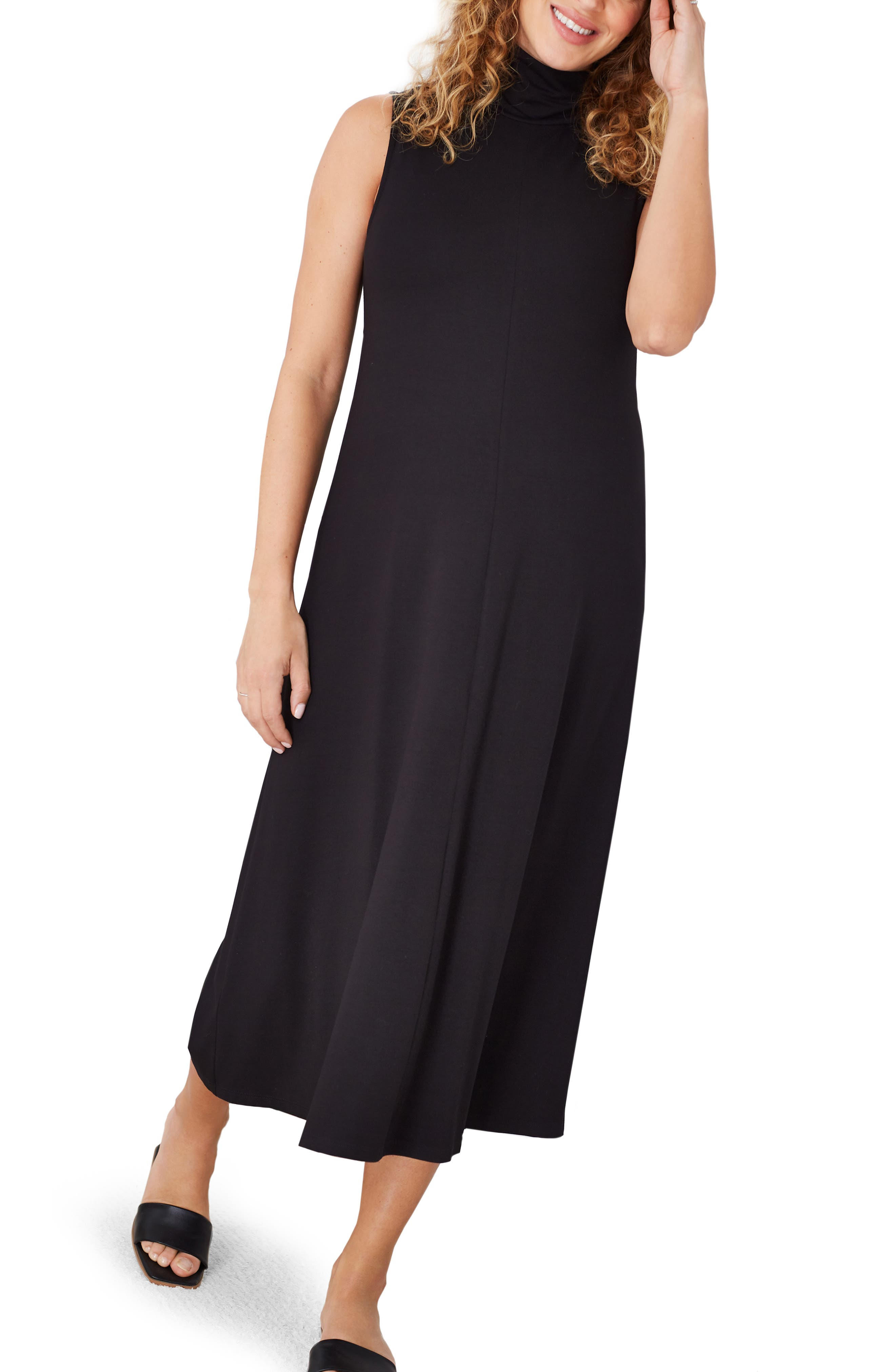 Stella Mock Neck Maternity Midi Dress