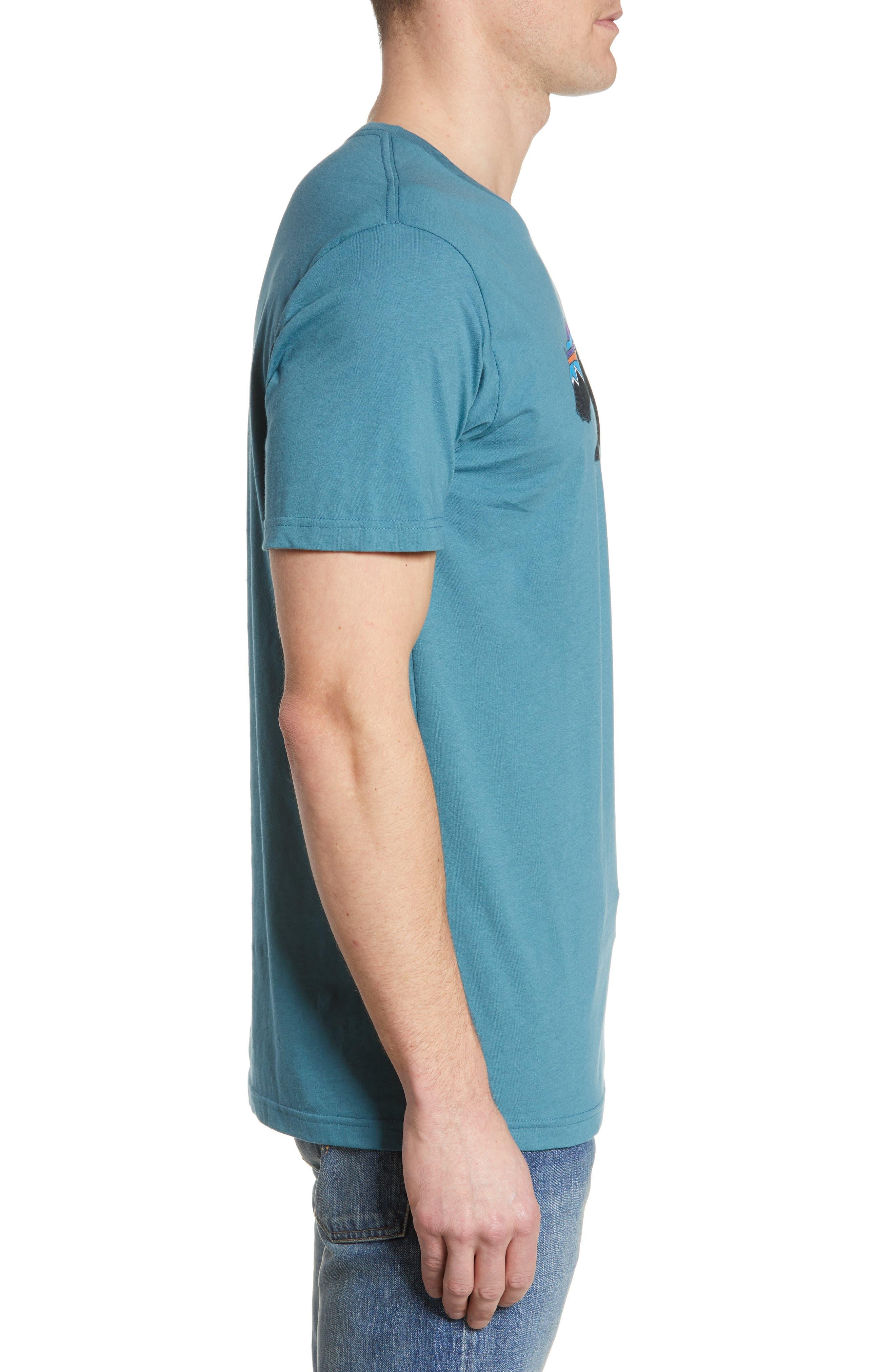 ,                             Fitz Roy Bear Crewneck T-Shirt,                             Alternate thumbnail 3, color,                             TASMANIAN TEAL