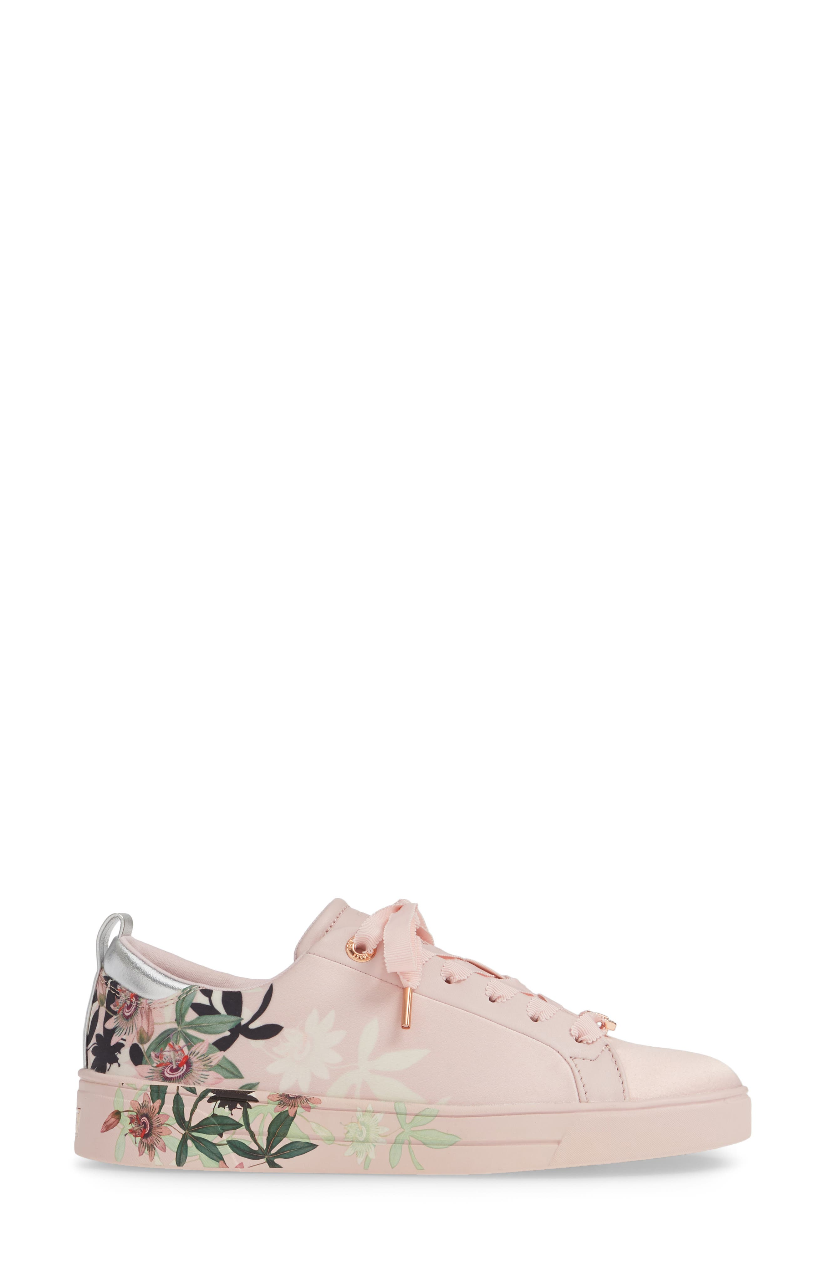 ,                             Rialy Sneaker,                             Alternate thumbnail 3, color,                             PINK ILLUSION SATIN