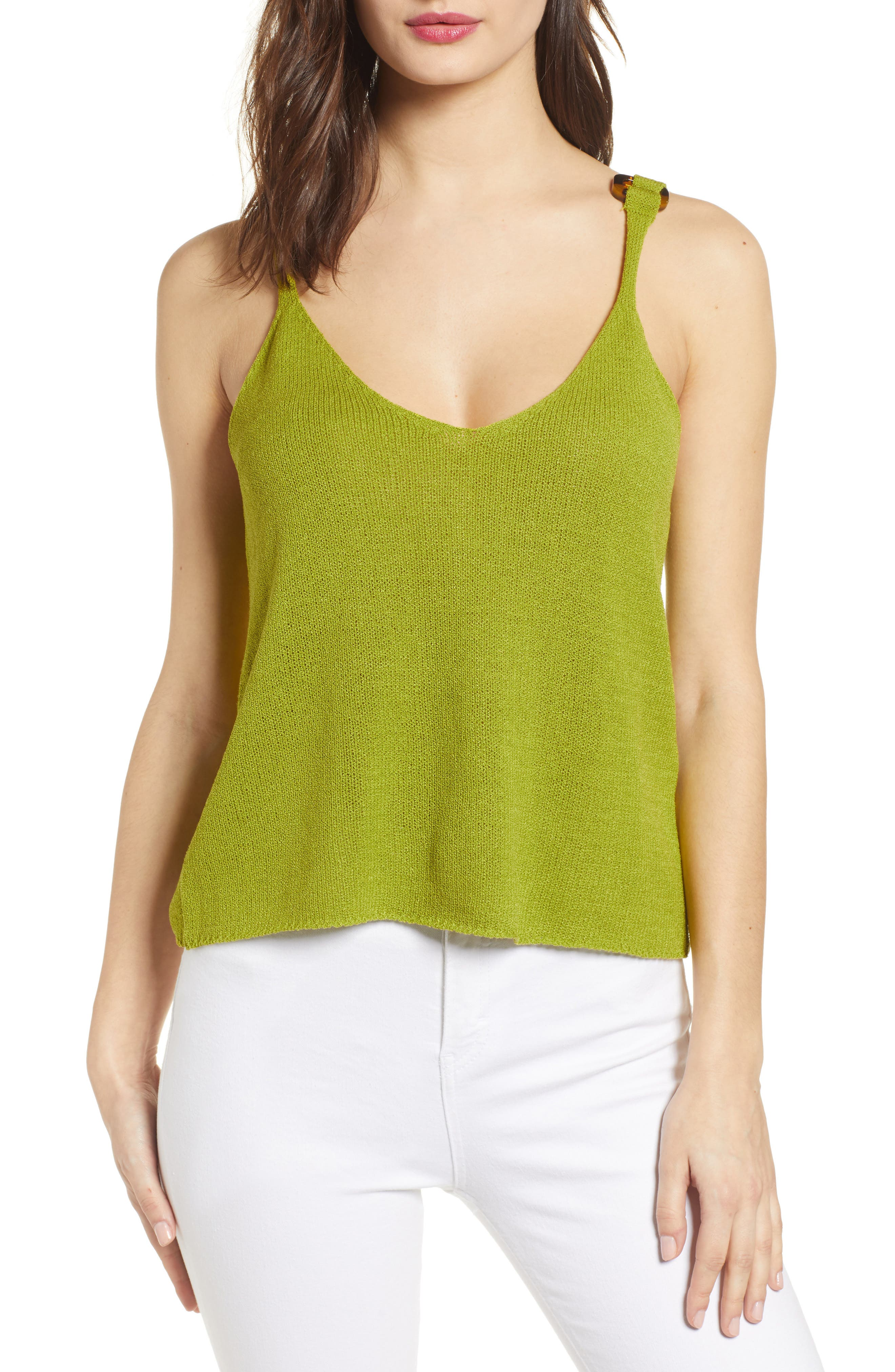 J.o.a. Knit Camisole, Green