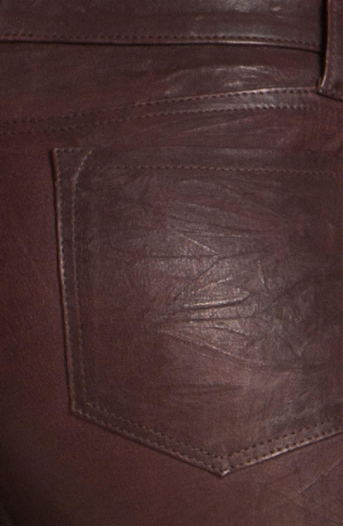 ,                             '8001' Lambskin Leather Pants,                             Alternate thumbnail 83, color,                             930