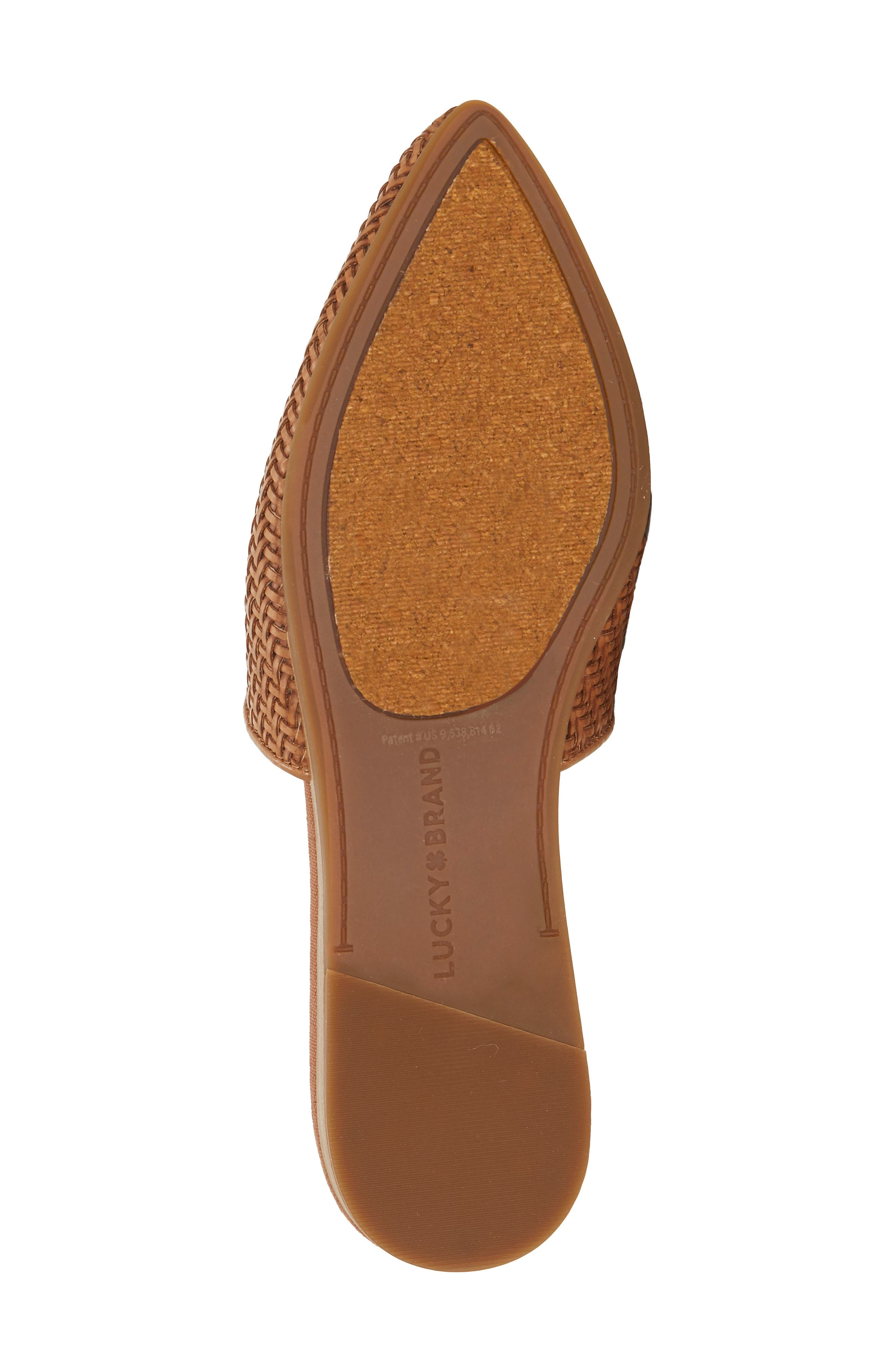,                             Bradell Pointy Toe Mule,                             Alternate thumbnail 6, color,                             UMBER LEATHER