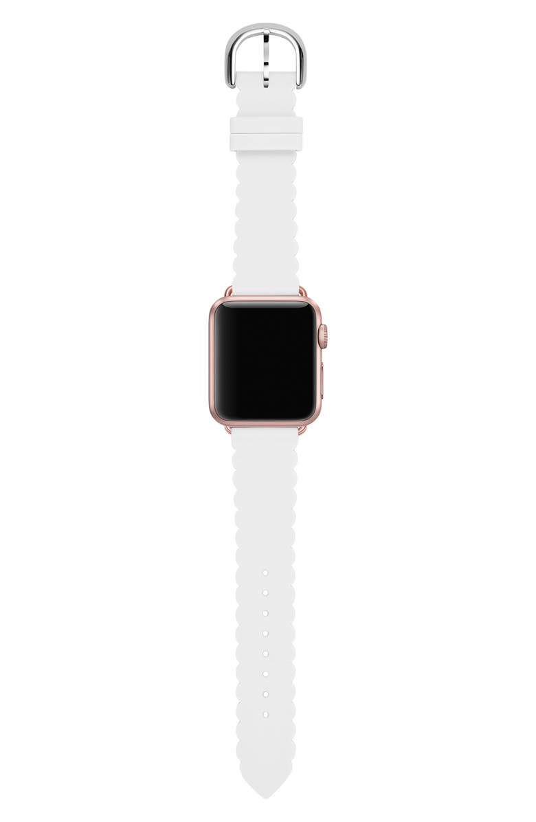 KATE SPADE NEW YORK Apple Watch<sup>®</sup> strap, 42mm, Main, color, WHITE