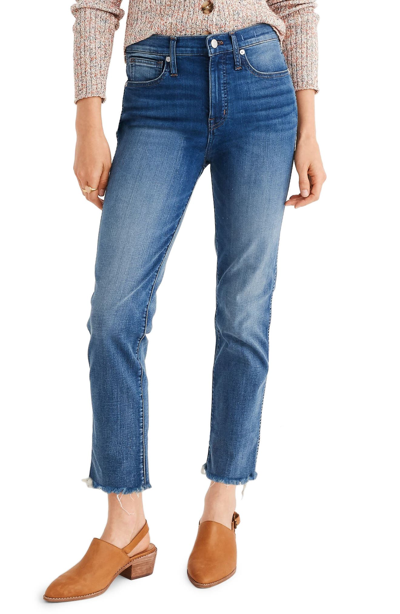Madewell Stovepipe Jeans Fluffy Hem Edition (Chancery Wash) (Regular & Plus Size)
