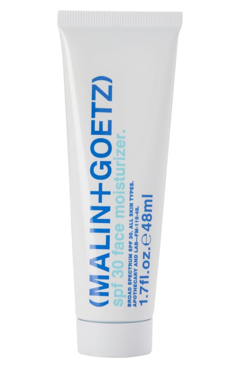 MALIN+GOETZ SPF 30 Face Moisturizer, Main, color, NO COLOR