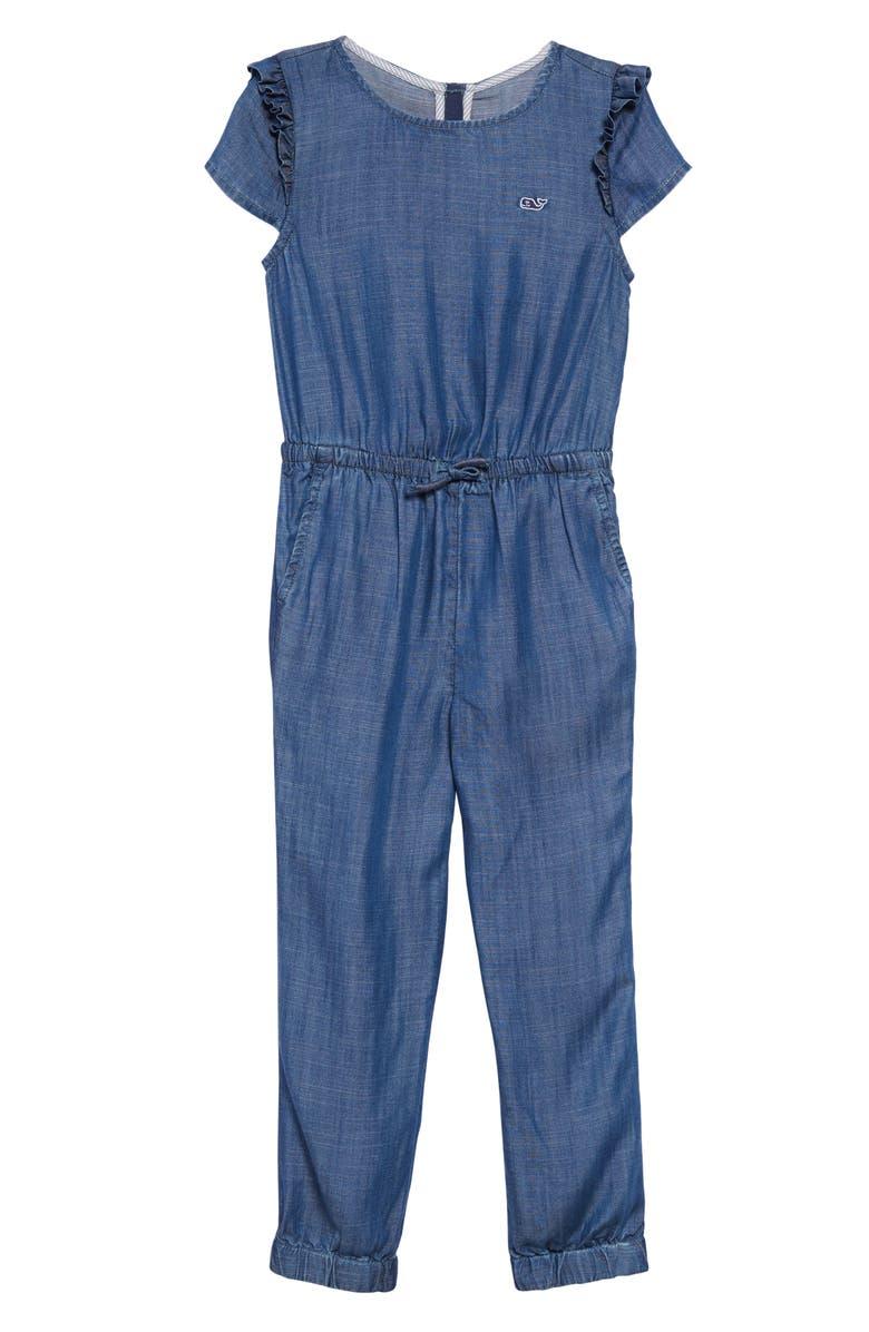 VINEYARD VINES Chambray Jumpsuit, Main, color, 400