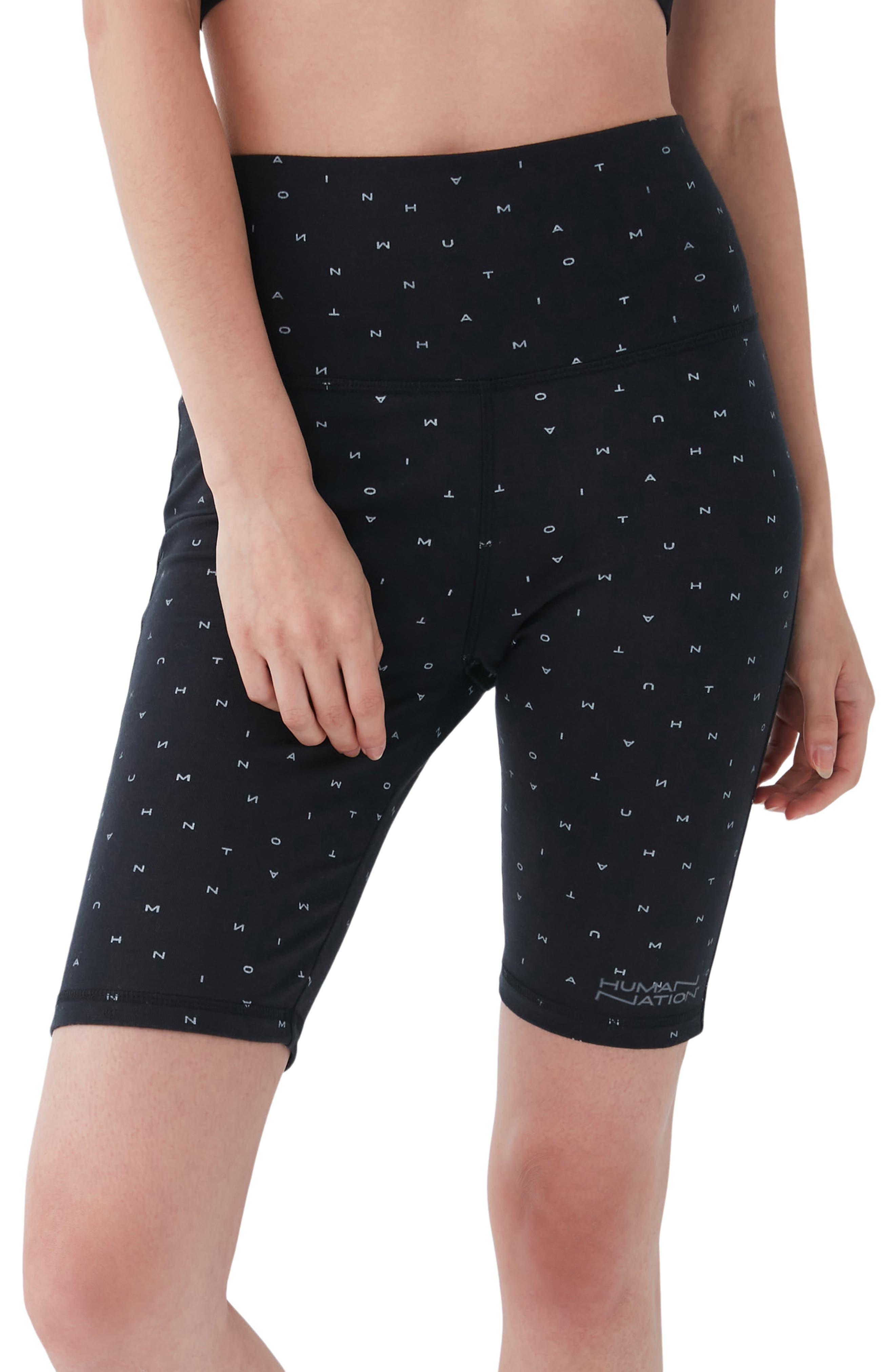 Gender Inclusive High Waist Stretch Organic Cotton Bike Shorts