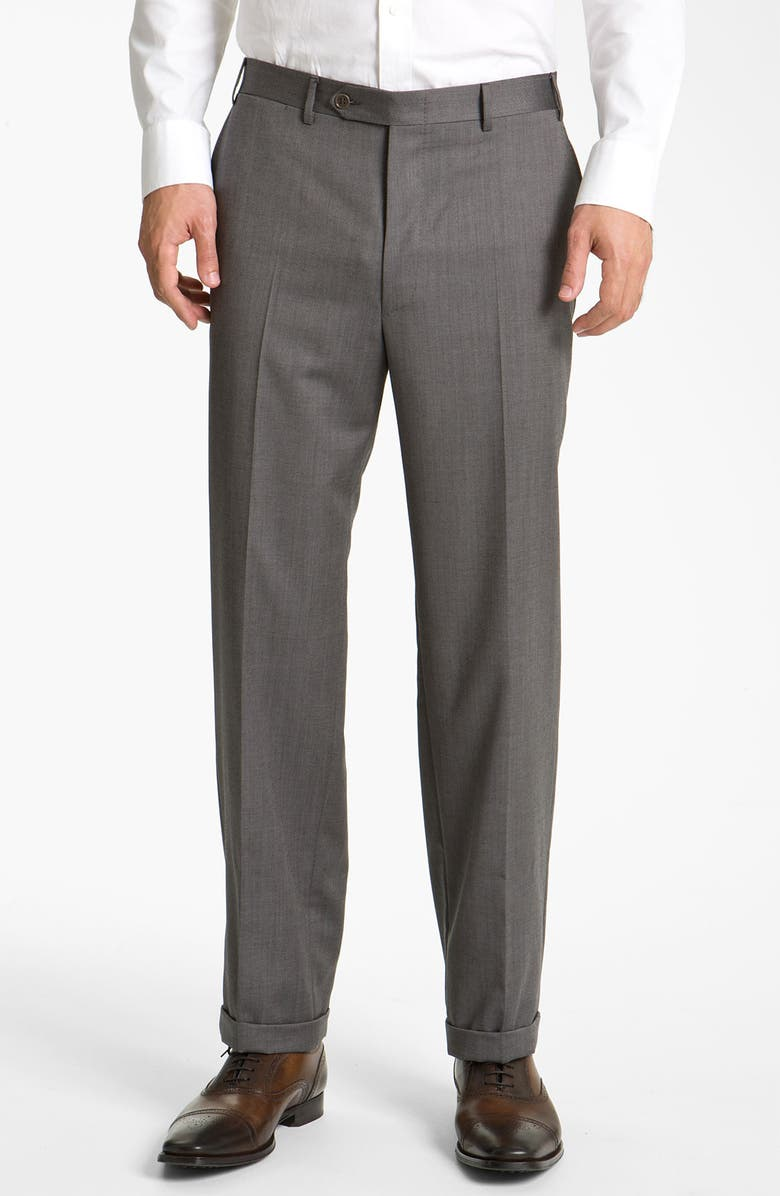 1b4cd5ac Flat Front Classic Fit Wool Dress Pants