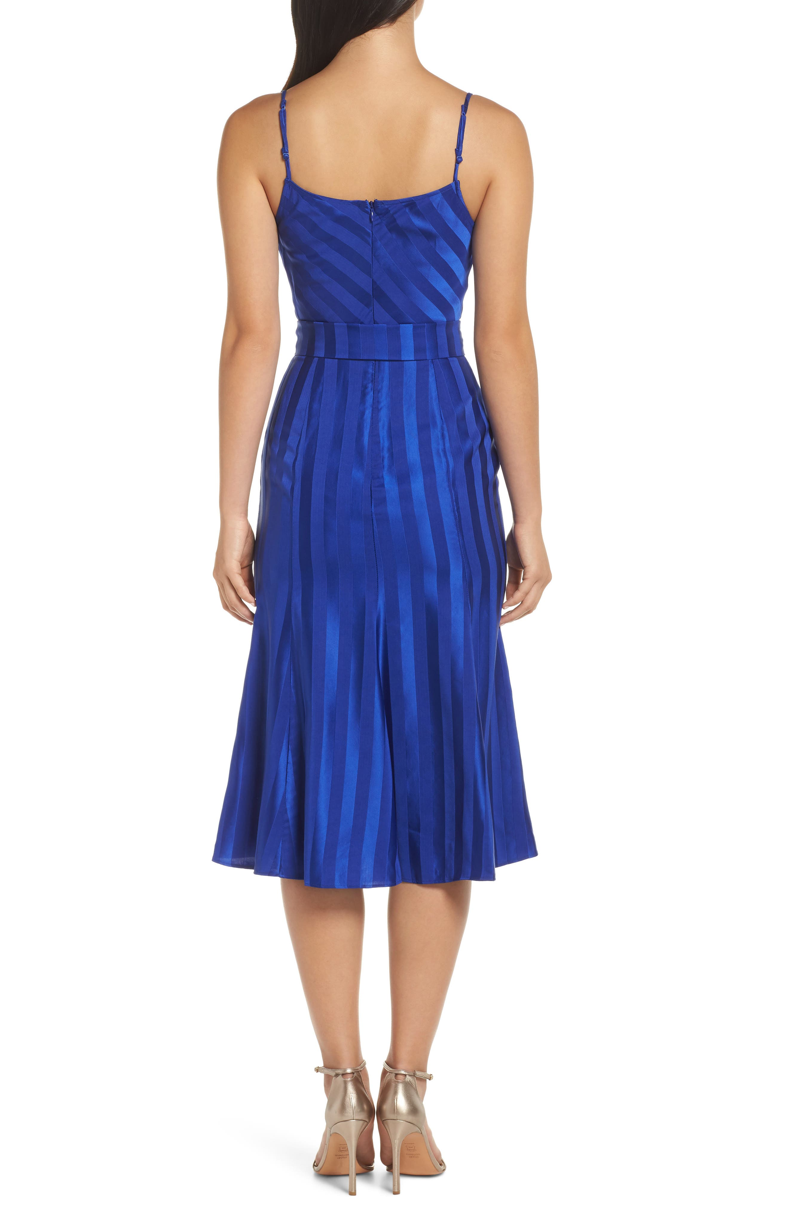 ,                             Abound Shadow Stripe Tea Length Dress,                             Alternate thumbnail 2, color,                             431