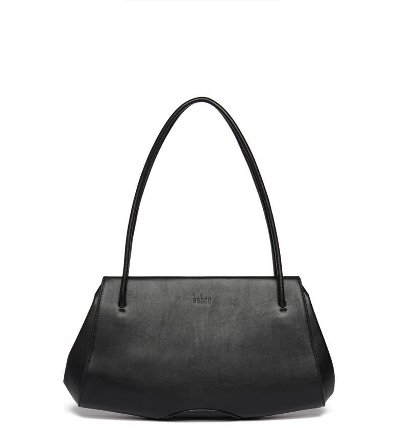 BEHNO Elizabeth Leather Shoulder Bag, Main, color, 001