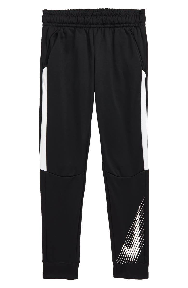 NIKE Dri-FIT Therma Performance Training Pants, Main, color, BLACK/ WHITE