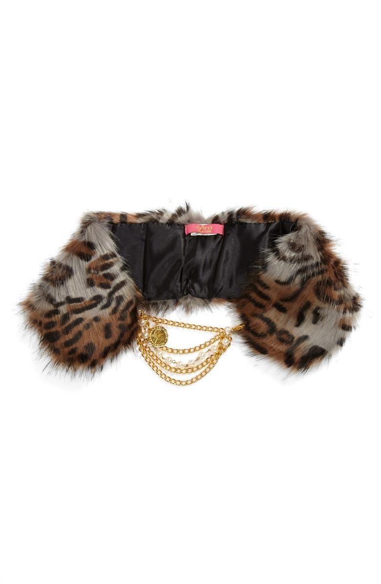 CARA Faux Fur Collar, Main, color, 200