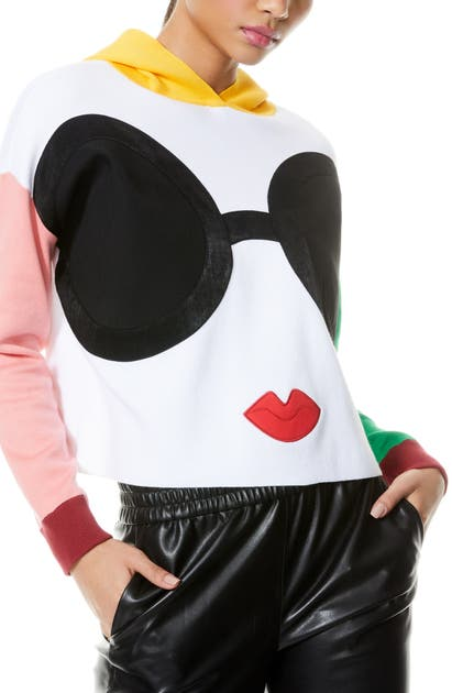 Alice And Olivia OSCAR STACE FACE COLORBLOCK HOODIE