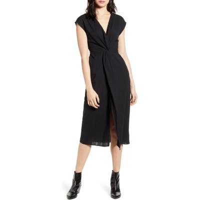 Lira Clothing Sylvan Twist Front Dress, Black