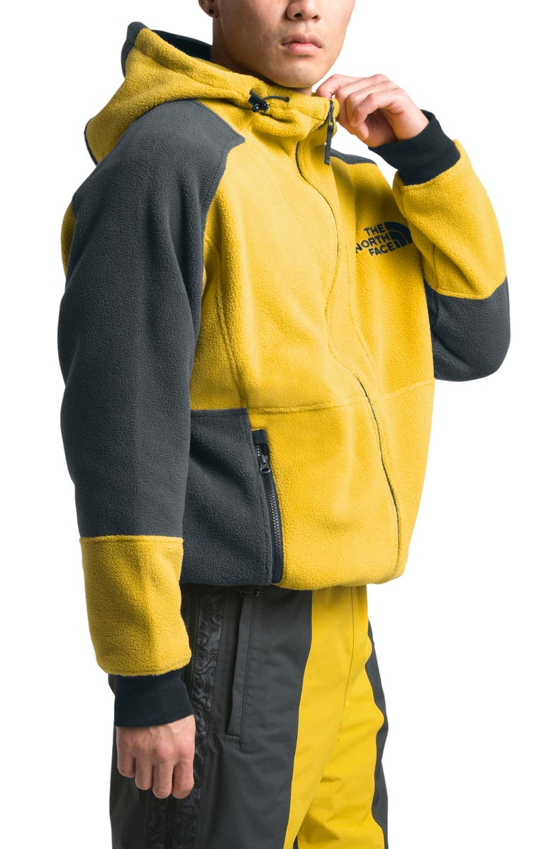 THE NORTH FACE 1994 Rage Collection Classic Zip Fleece Hoodie, Main, color, LEOPARD YELLOW/ ASPHALT GREY