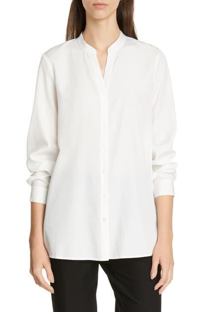 Eileen Fisher T-shirts MANDARIN COLLAR SHIRT