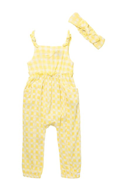 Image of 7 For All Mankind Crinkle Romper & Headband