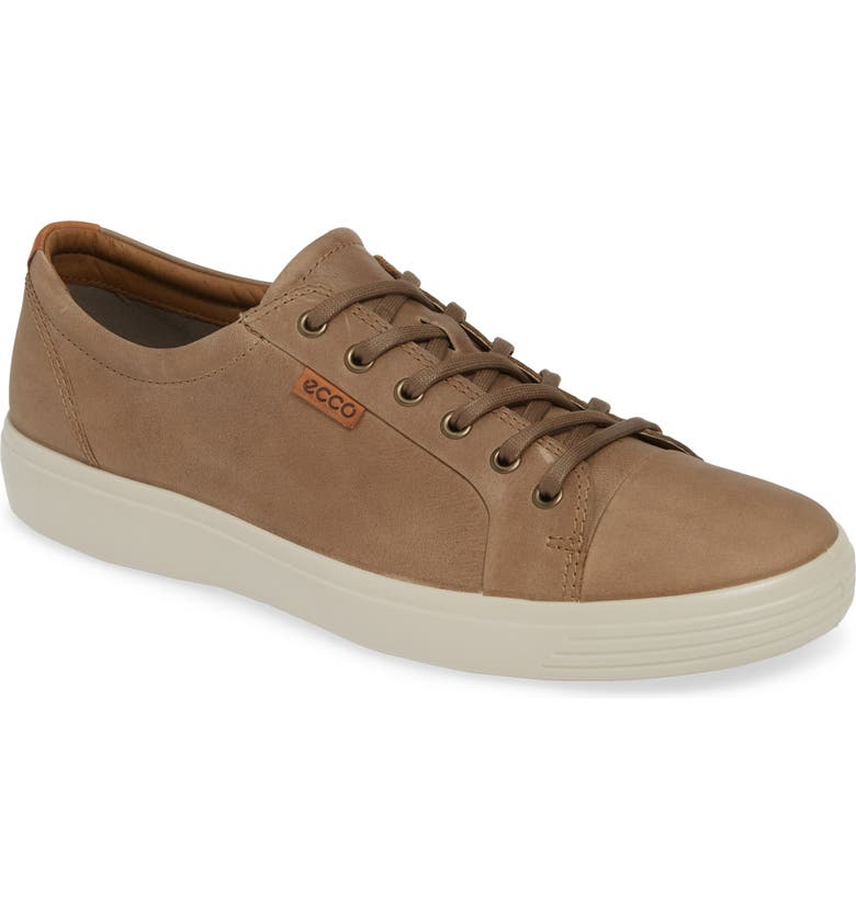 ECCO Soft VII Lace-Up Sneaker, Main, color, NAVAJO BROWN