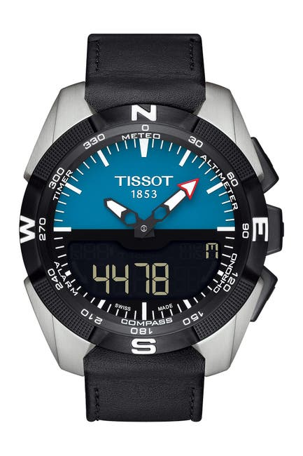 Image of Tissot Men's T-Touch Expert Solar Leather Strap Watch, 45mm