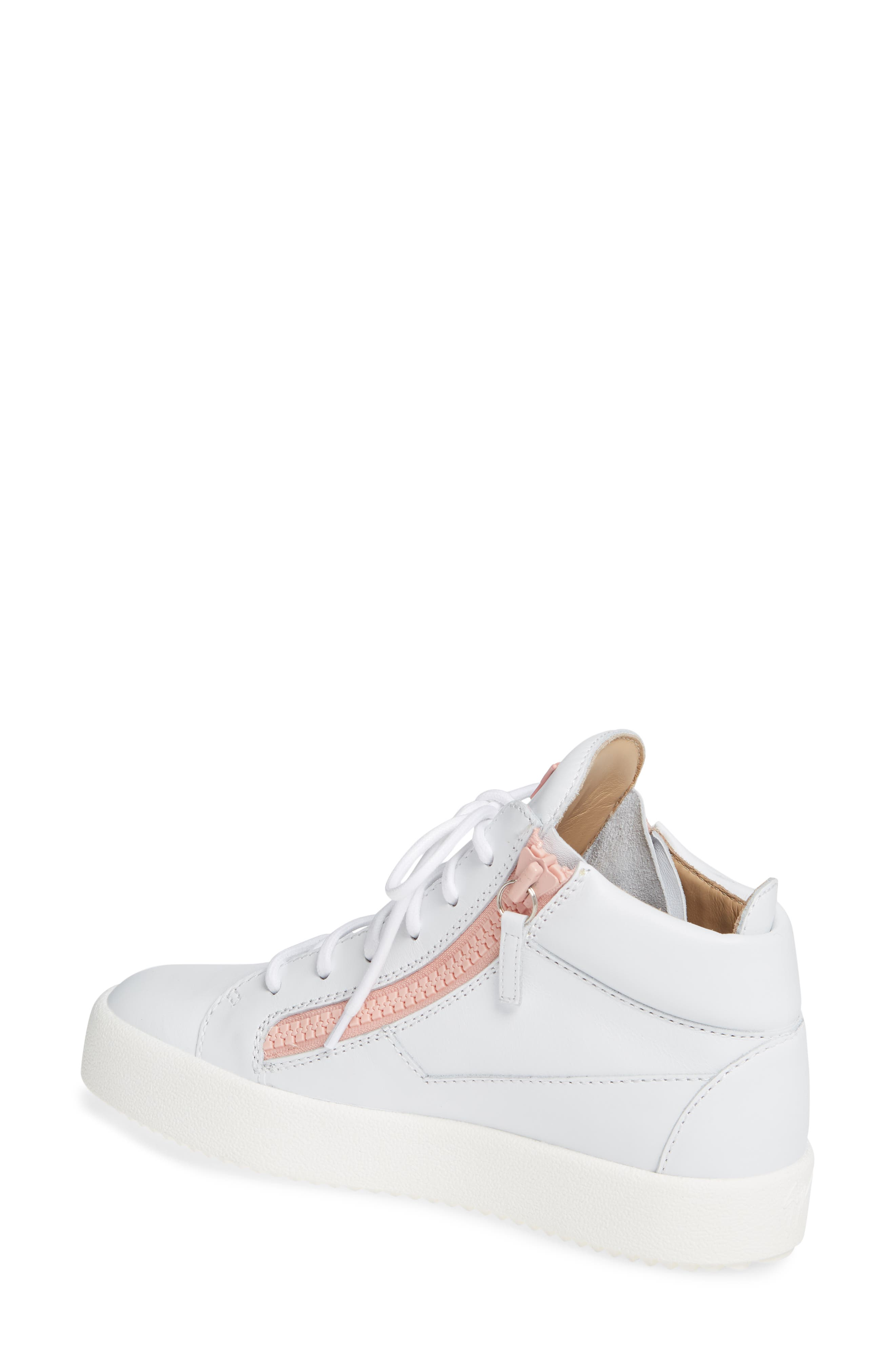 ,                             May London High Top Sneaker,                             Alternate thumbnail 2, color,                             WHITE/ PINK