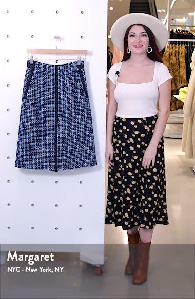Varius Tweed Suit Skirt, sales video thumbnail