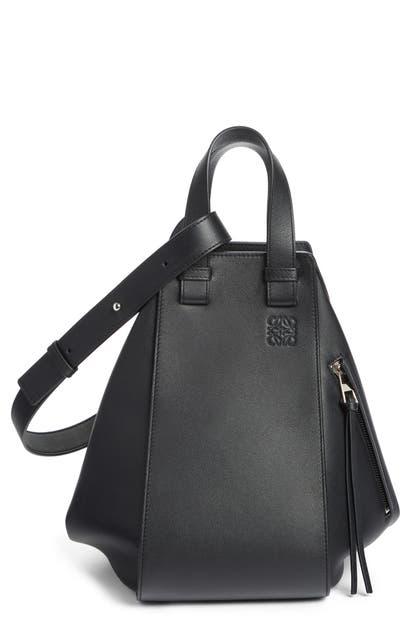 Loewe Shoulder MEDIUM HAMMOCK CALFSKIN LEATHER SHOULDER BAG - BLACK
