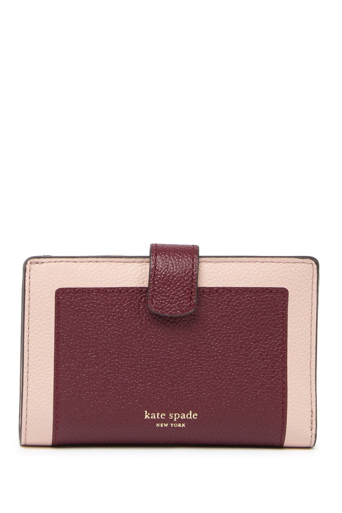 Image of kate spade new york margaux medium leather bifold wallet