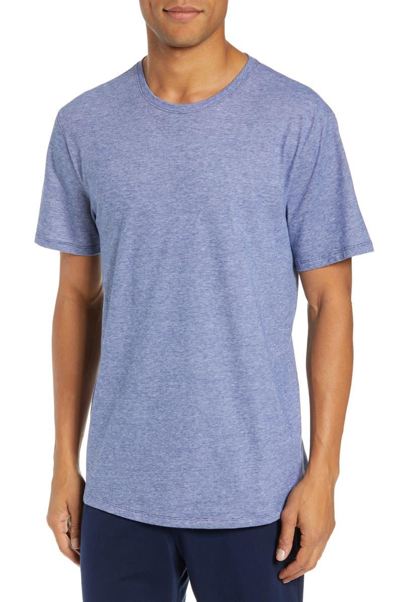 NORDSTROM MEN'S SHOP Feeder Stripe Lounge T-Shirt, Main, color, BLUE FINELINE