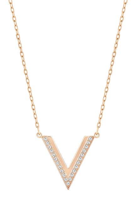 Image of Swarovski Pave Swarovski Crystal Delta Pendant Necklace