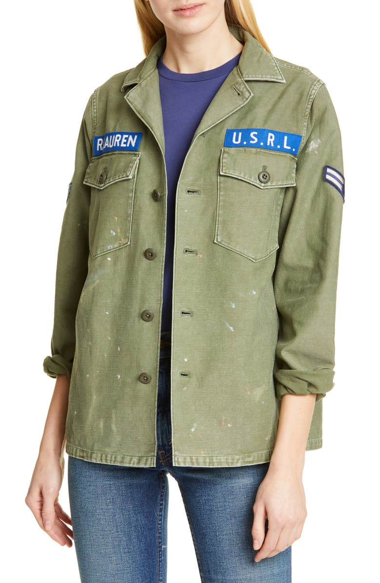 POLO RALPH LAUREN Army Jacket, Main, color, CARGO GREEN