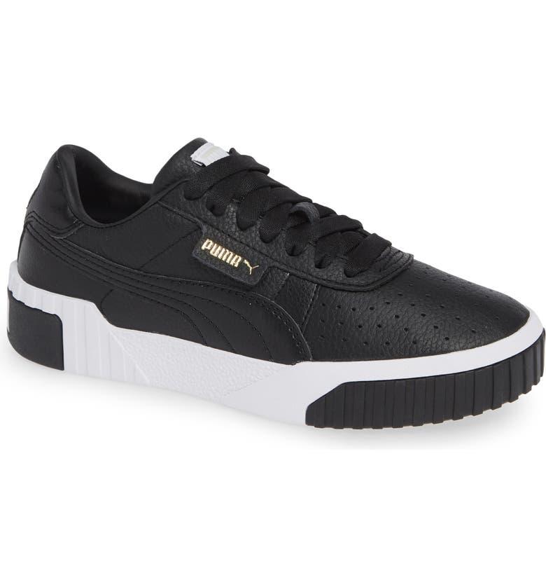 PUMA Cali Sneaker, Main, color, PUMA BLACK/ PUMA WHITE