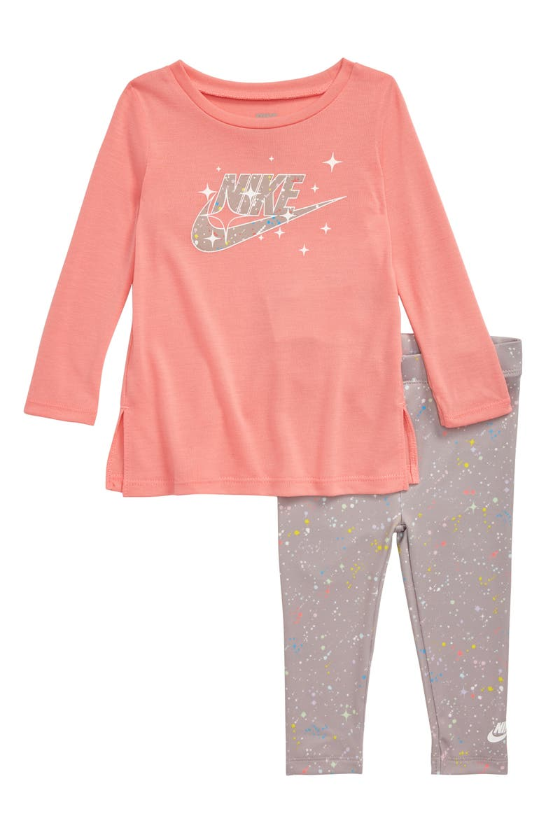 NIKE Starry Night Tunic & Leggings Set, Main, color, ATMOSPHERE GREY