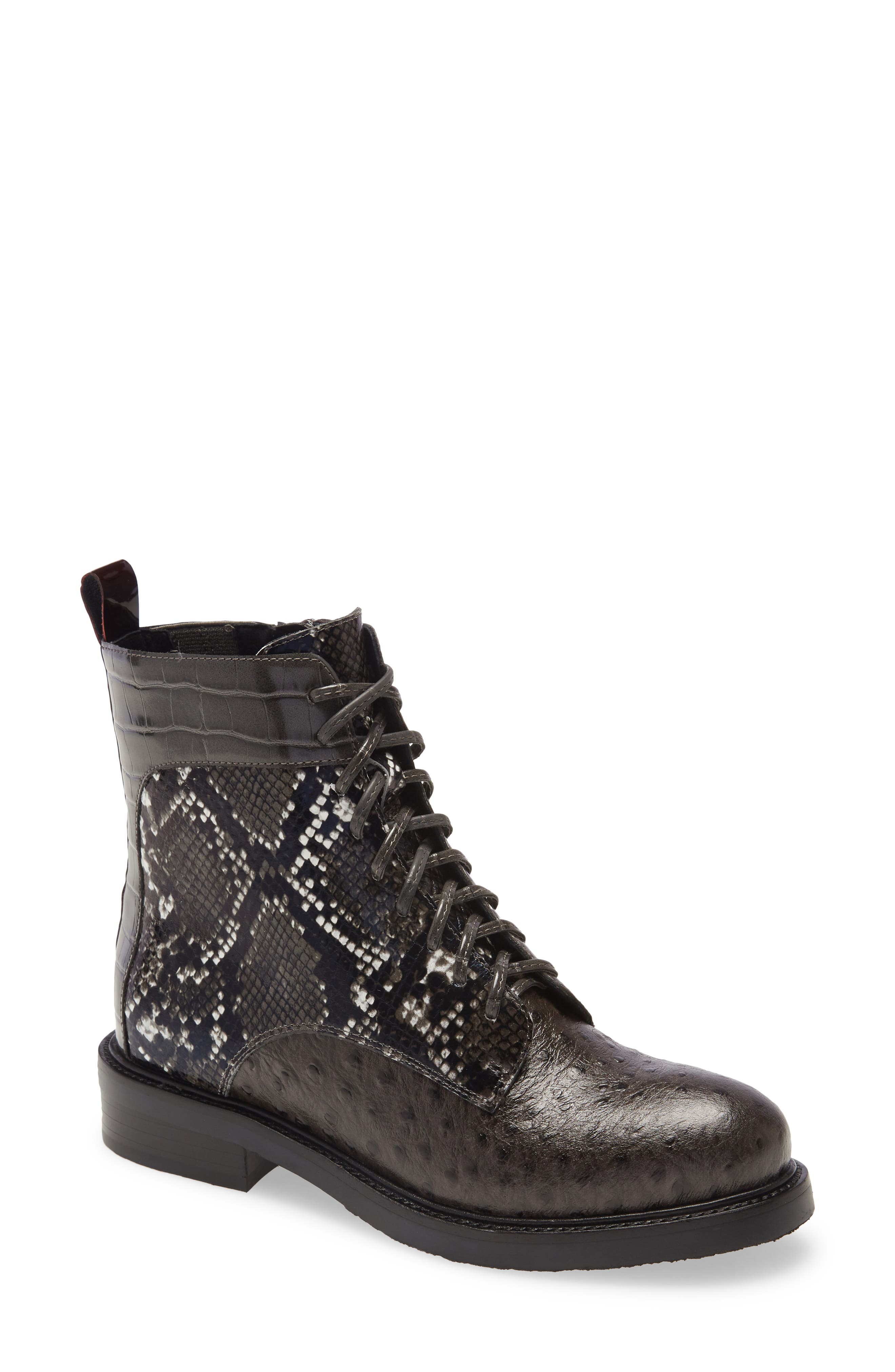 Fischer Lace-Up Leather Boot