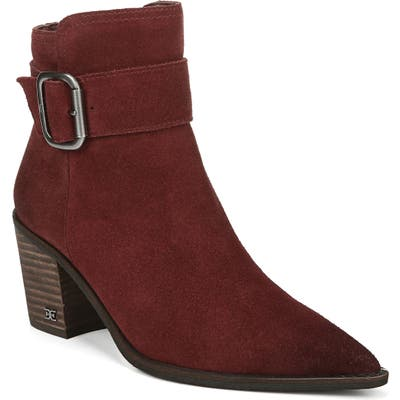 Sam Edelman Leonia Pointed Toe Bootie- Red