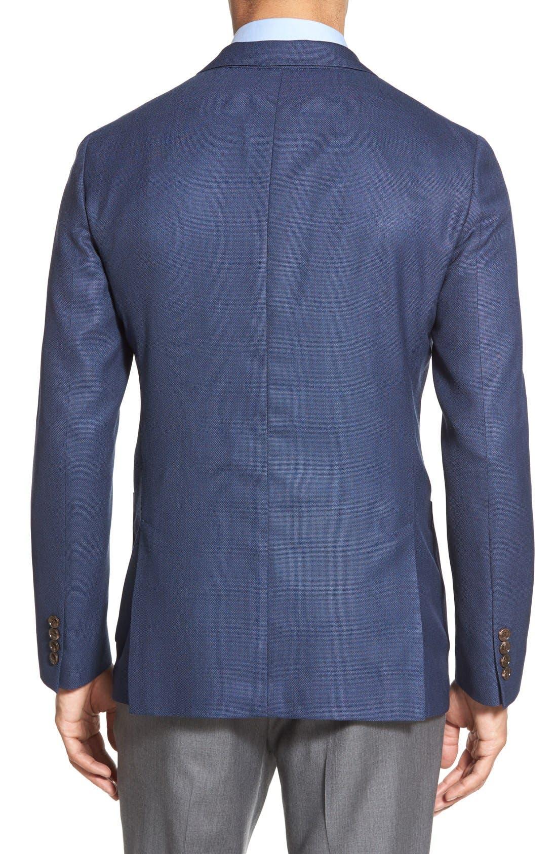 ,                             Slim Fit Wool Unconstructed Sport Coat,                             Alternate thumbnail 8, color,                             BLUE