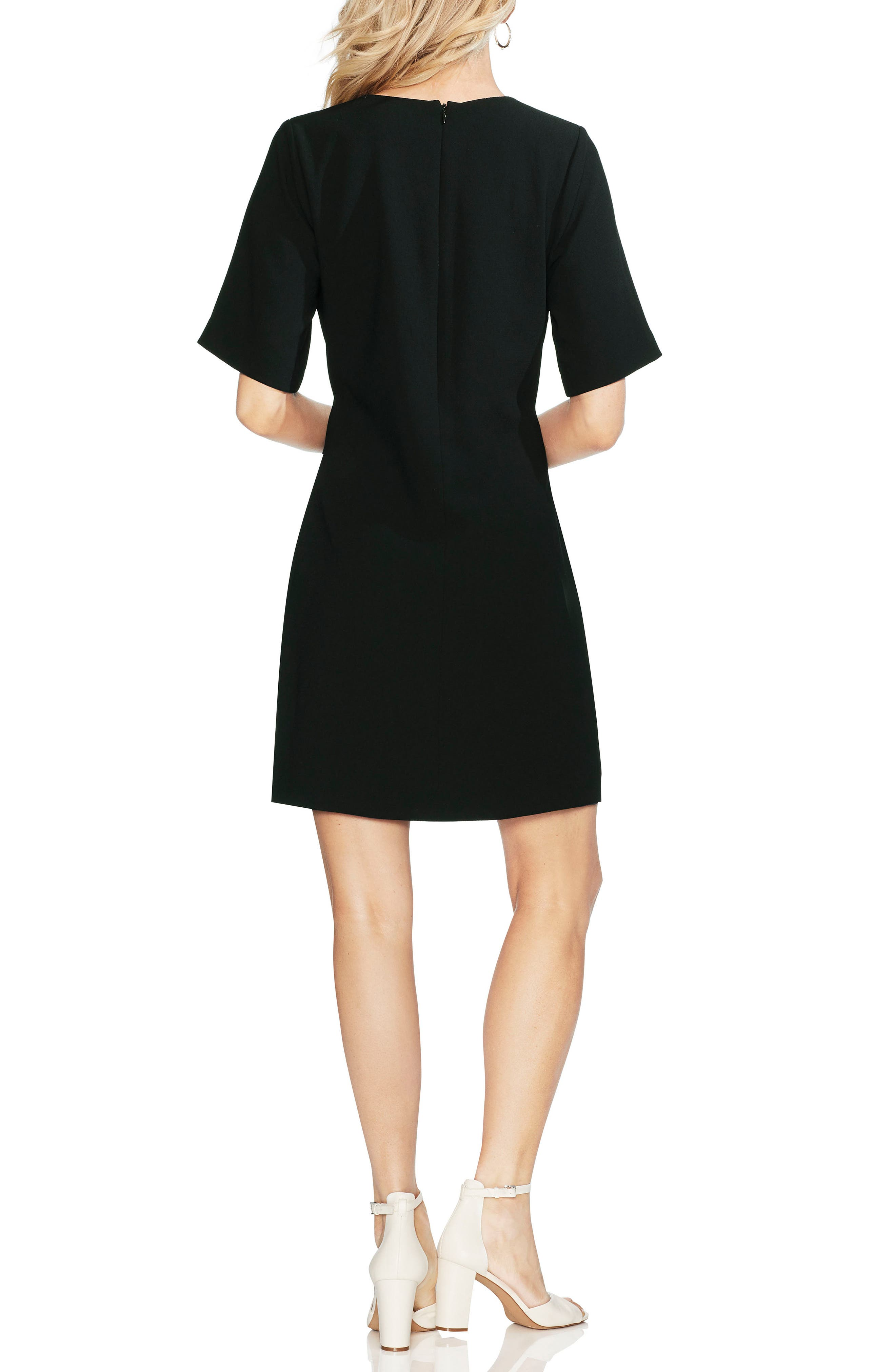 ,                             Belted Crepe Dress,                             Alternate thumbnail 2, color,                             006