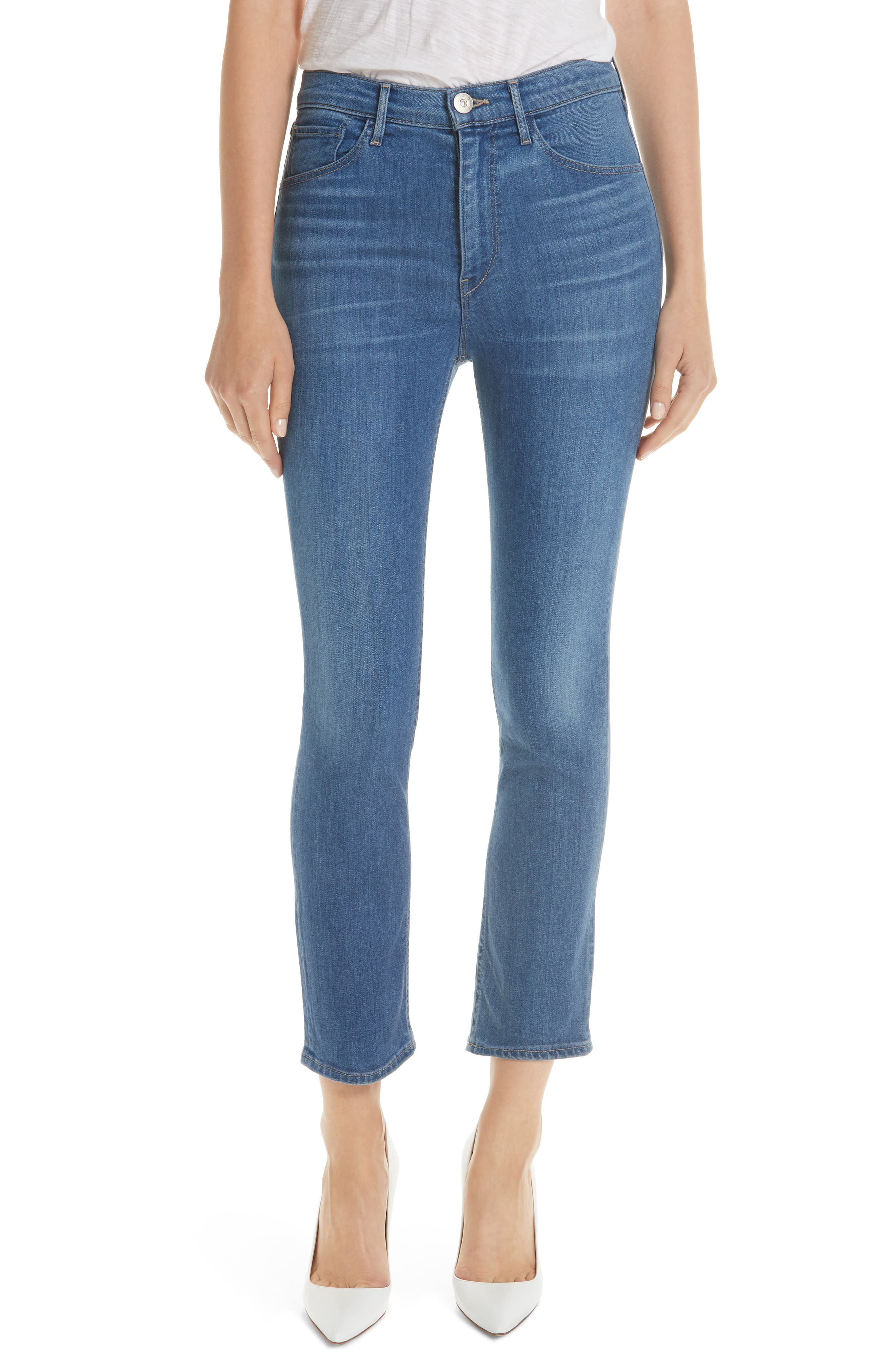 W4 Colette Crop Skinny Jeans, Main, color, MILLY