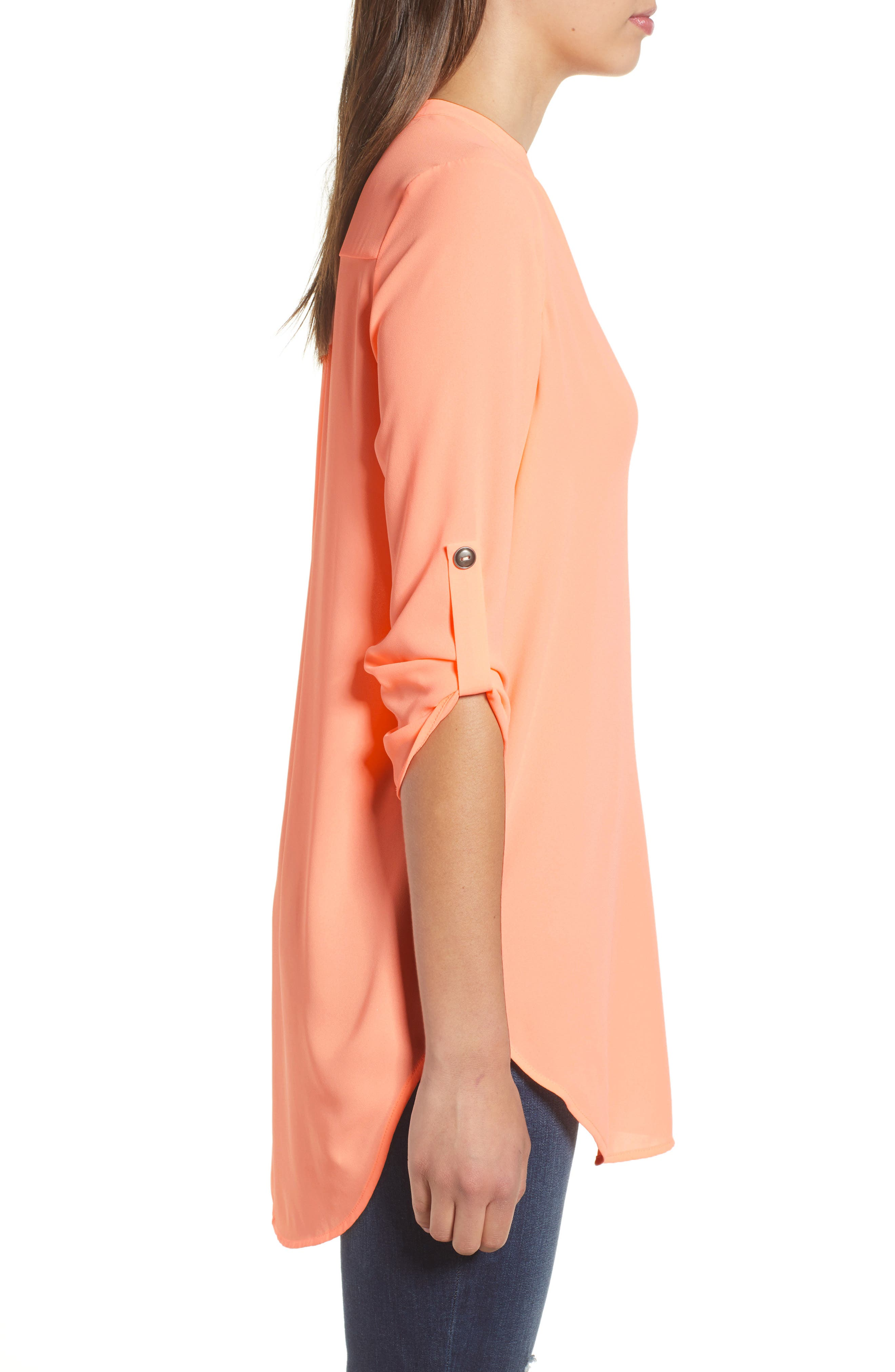 ,                             Perfect Roll Tab Sleeve Tunic,                             Alternate thumbnail 167, color,                             803