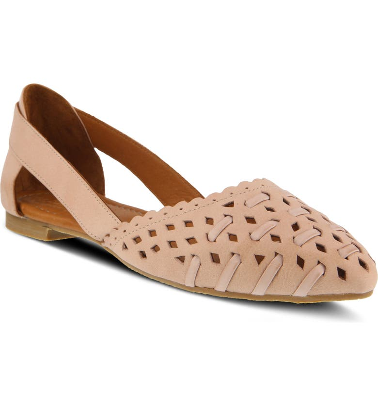 SPRING STEP Delorse Flat, Main, color, PINK LEATHER
