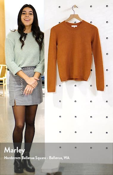 Fitted Crop Cashmere Sweater, sales video thumbnail
