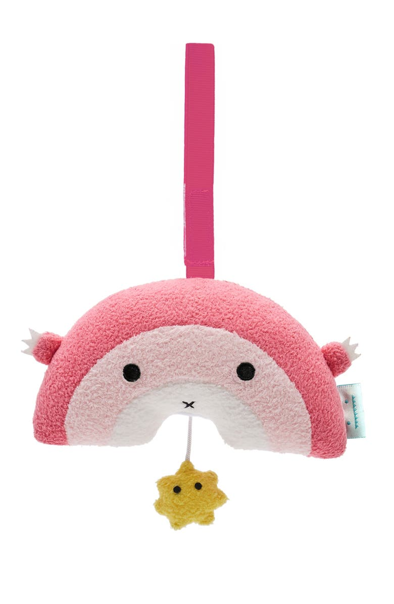 NOODOLL Ricebow Pink Rainbow Musical Plush Mobile, Main, color, 650