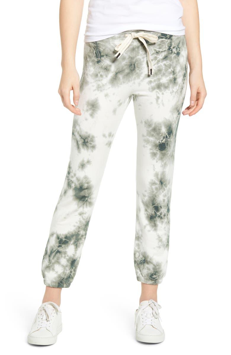STATESIDE Tie Dye Fleece Jogger Pants, Main, color, 301