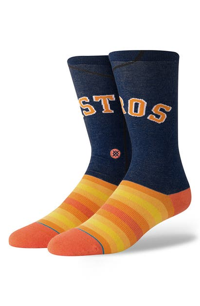 Stance Houston Astros Alternate Jersey Series Crew Socks In Navy