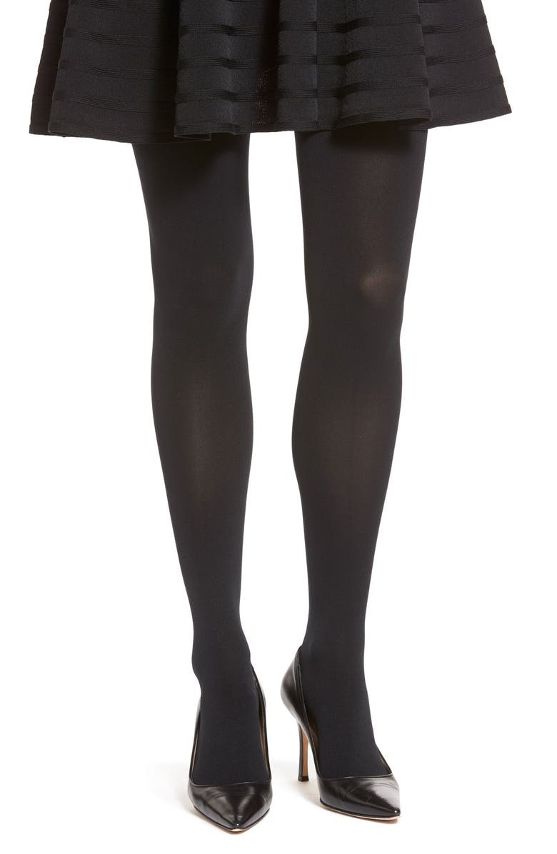 ITEM M6 Opaque Tights, Main, color, BLACK