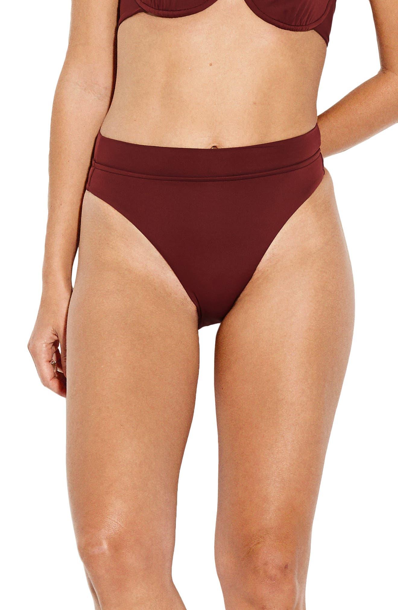 Seafolly Active High Waist Bikini Bottoms, US / 12 AU - Purple